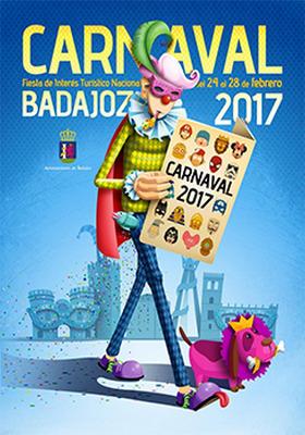 Cartel carnaval de Badajoz 2017