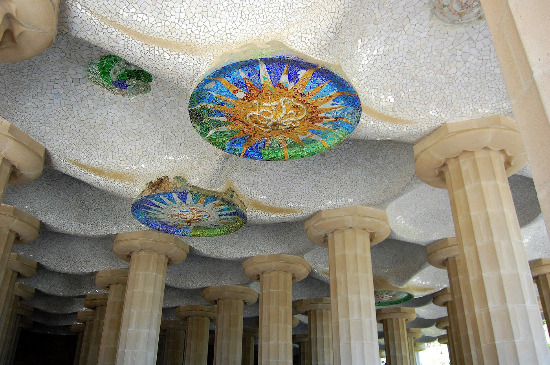 Sala Hipóstila Parque Güell Barcelona