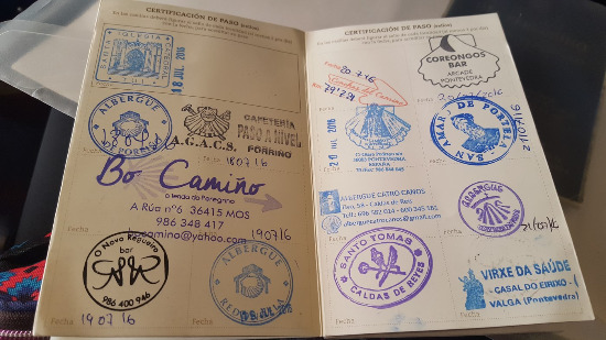 Credencial Camino Santiago