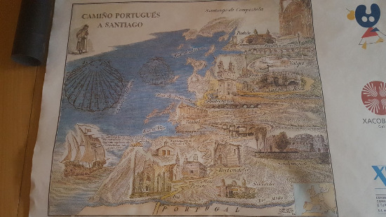Mapa Camino Santiago Portugués